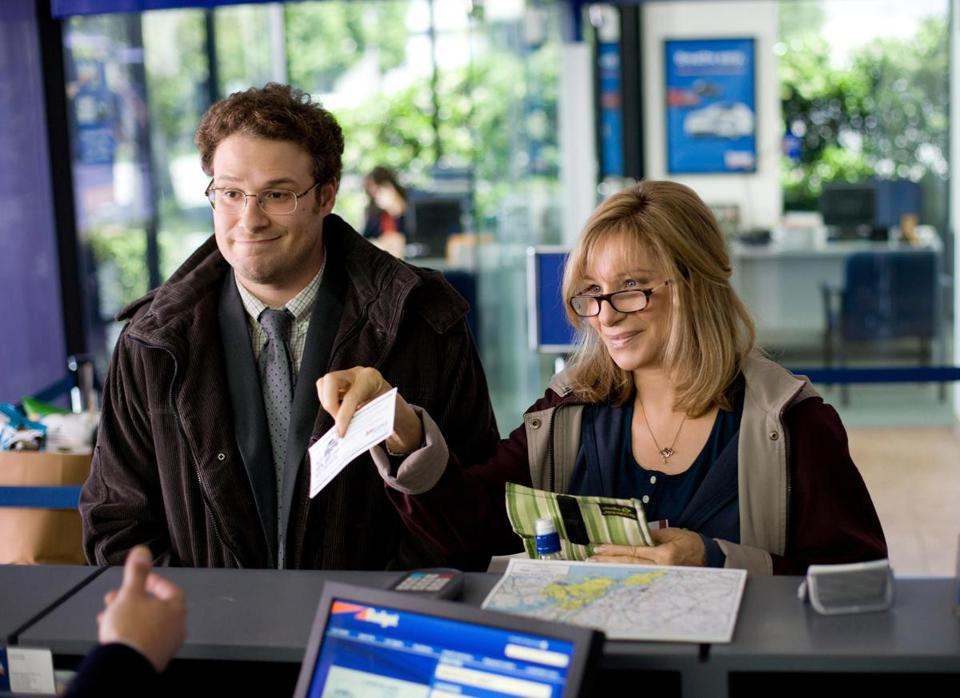 "Seth Rogen and Barbra Streisand in ""The Guilt Trip."""