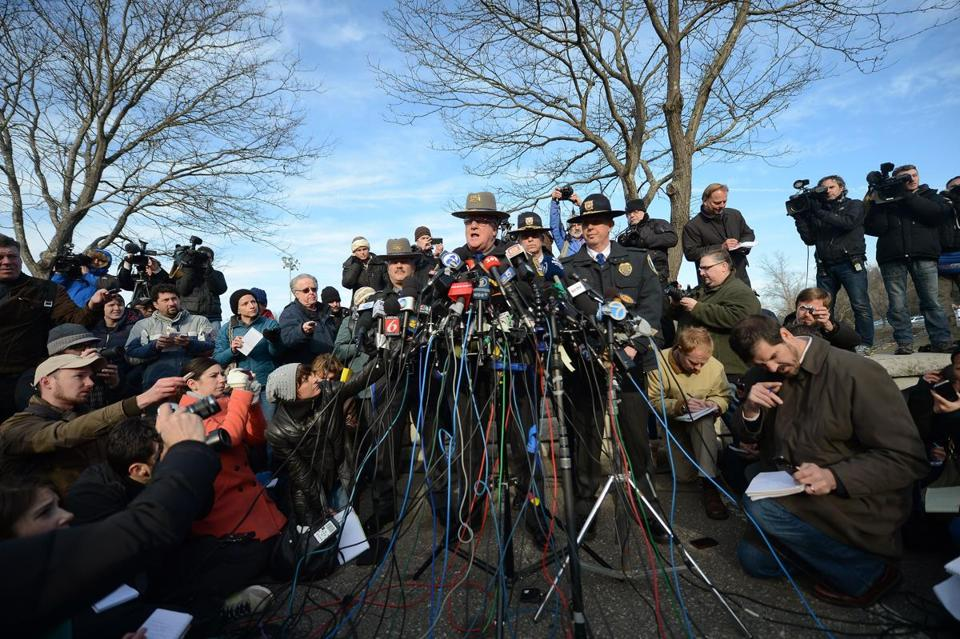 Connecticut State Police Lieutenant Paul Vance addressed a press conference following an elementary school shooting in Newtown, Conn.