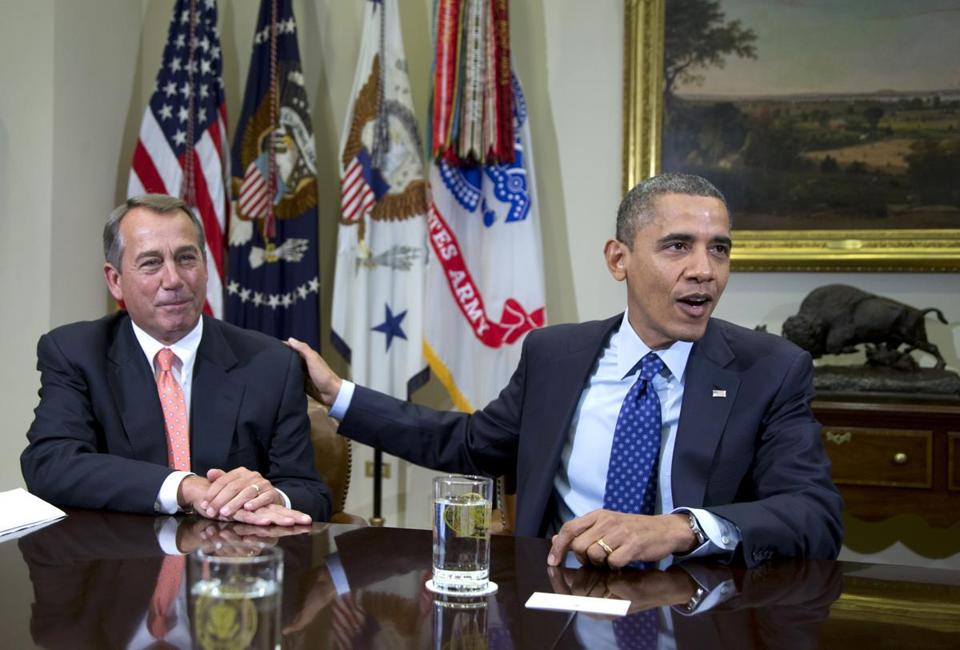 House Speaker John A. Boehner and President Obama have a distant relationship, and played golf together just once.