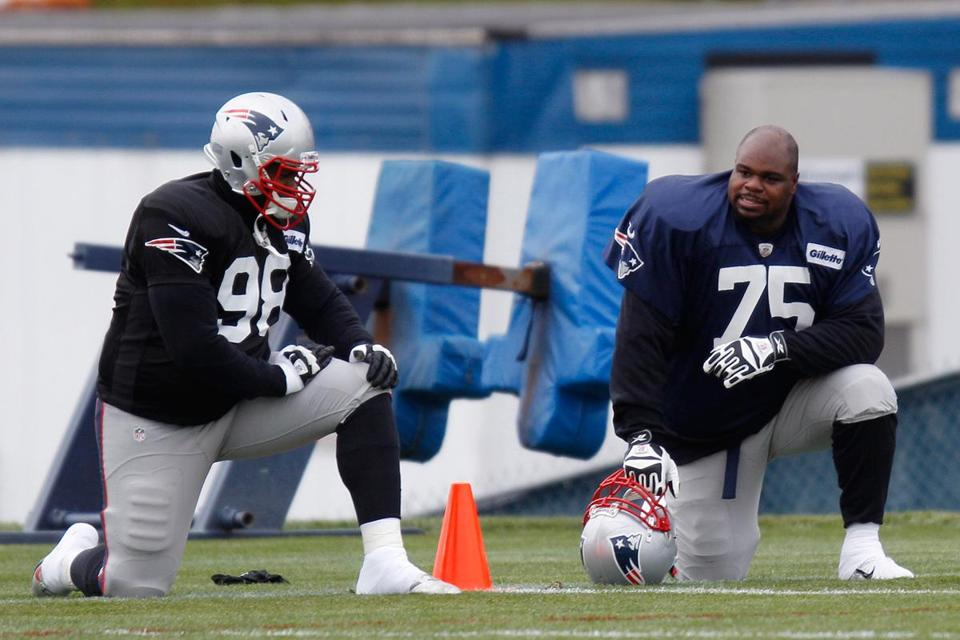 Having Vince Wilfork (75) in the middle makes it difficult for teams to attack the heart of the Patriots' defense.