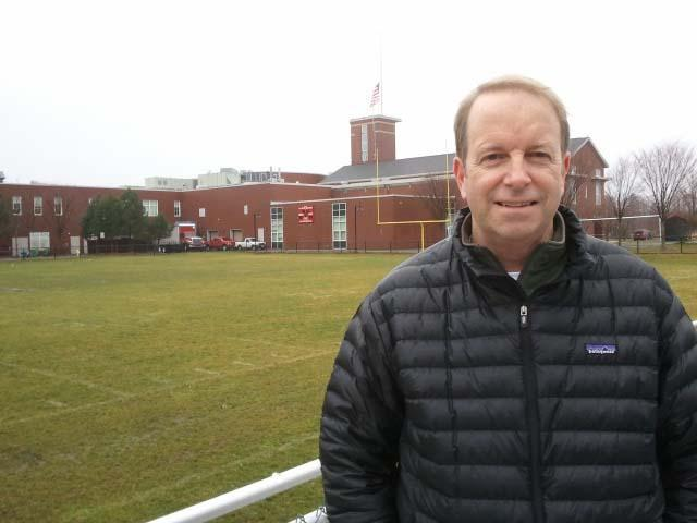 Steve Maxwell is helping to lead an effort to raise funds to install an artificial turf field at Marblehead High School.