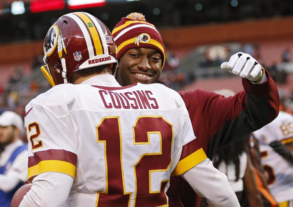 Kirk Cousins threw for 329 yards and two TDs filling in for Robert Griffin III.