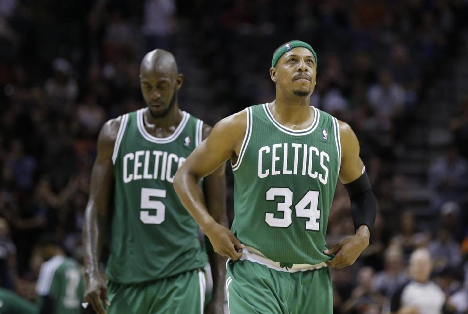 When Kevin Garnett (left) and Paul Pierce can't carry the load this season, the Celtics are in big trouble.