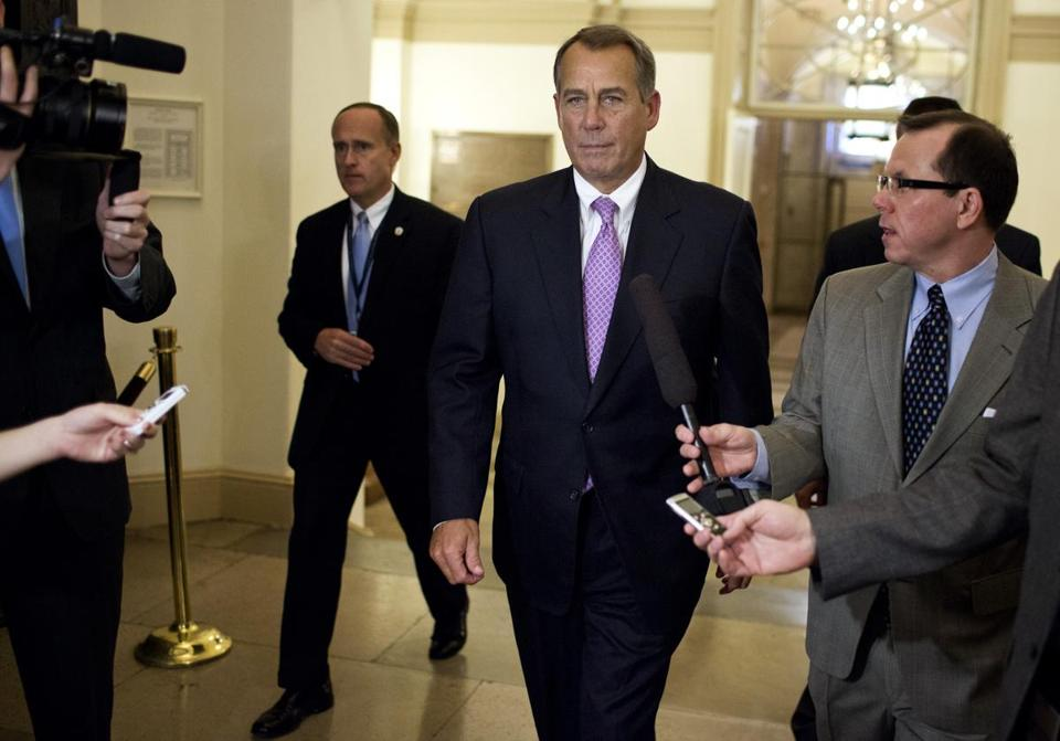 House Speaker John Boehner walked to his office in the Capitol after meeting with President Obama at the White House. Obama proposed a deal that would raise revenues by $1.2 trillion over the next decade but keep in place the Bushera tax rates for any household with earnings below $400,000.