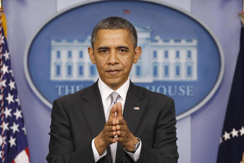 President Obama spoke about the fiscal cliff at the White House on Wednesday.