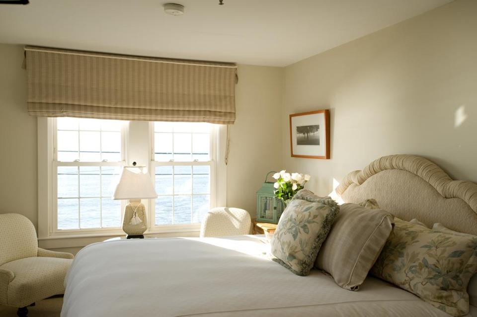 Ocean-view rooms at Beach House Inn in Kennebunk, Maine.