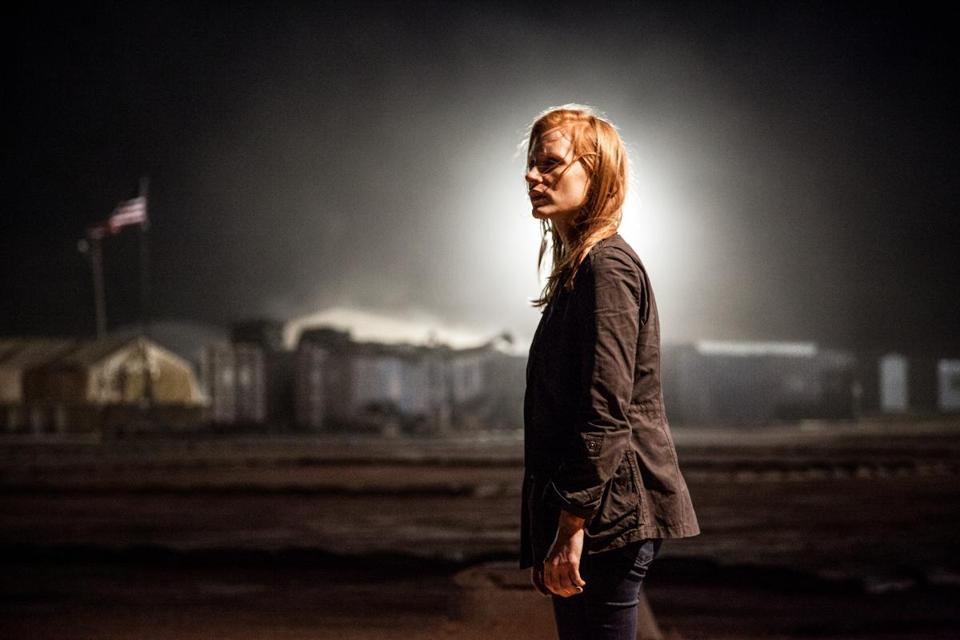"Jessica Chastain stars as a CIA agent in ""Zero Dark Thirty."""