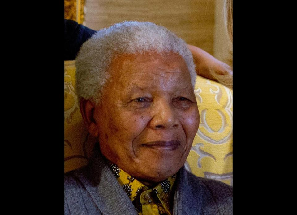 Former South African President Nelson Mandela on Aug. 6.