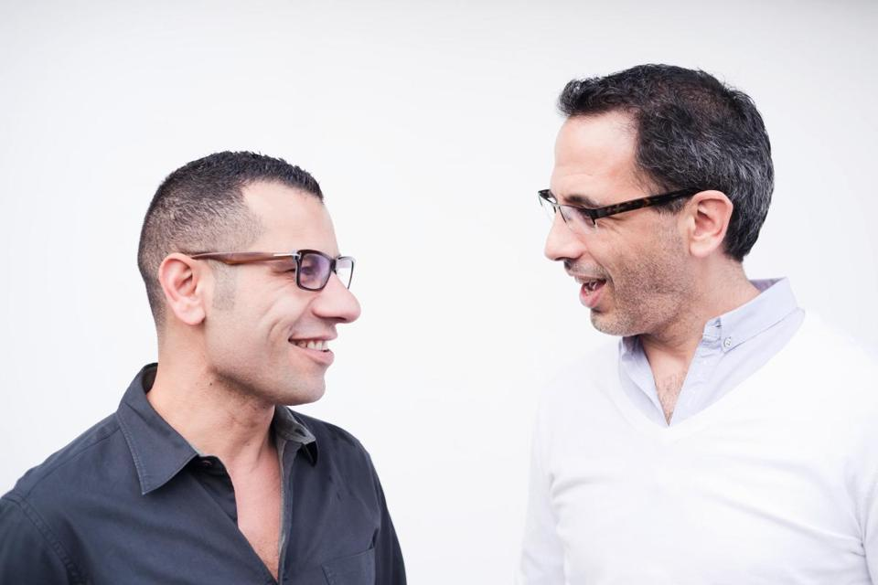 Chefs and friends Sami Tamimi (left) and Yotam Ottolenghi.