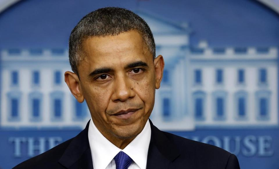 President Obama spoke about the fiscal cliff at the White House on Friday.