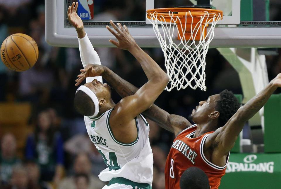 Paul Pierce followed his 40-point game Wednesday with 35-pointer Friday. But his teammates struggled in the 99-94 loss to the Bucks.