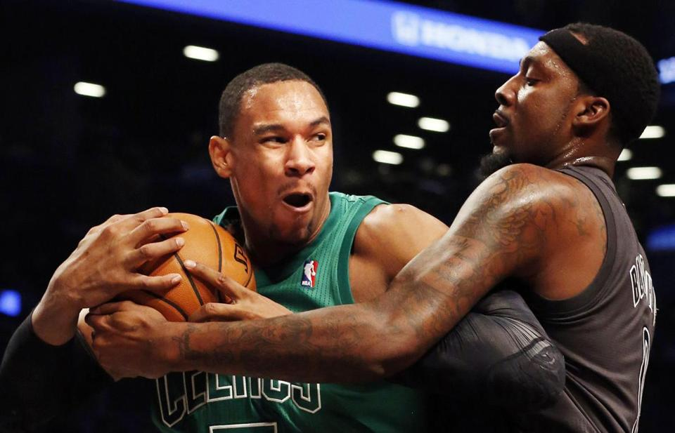 Andray Blatche (right) and the Nets had their hands full with Jared Sullinger.