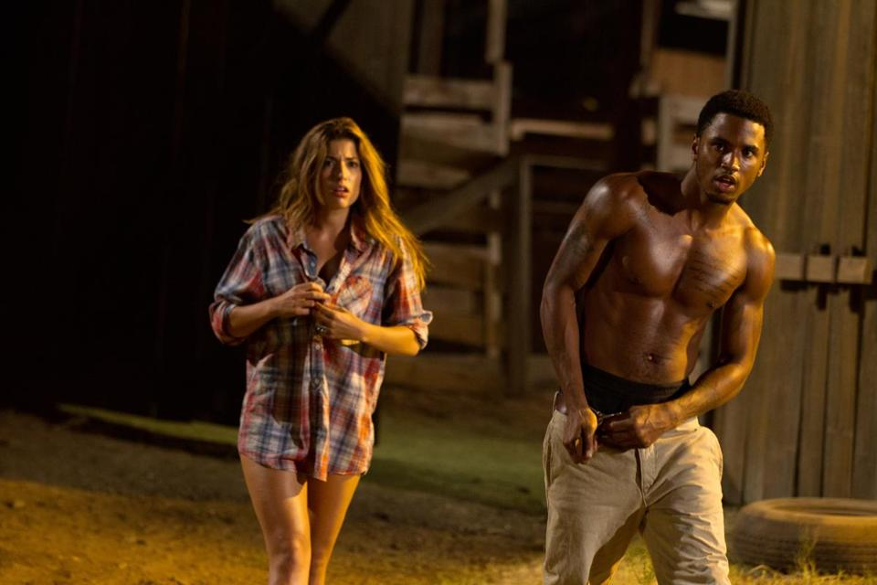 "Tania Raymonde and Trey Songz in ""Texas Chainsaw 3D.''"