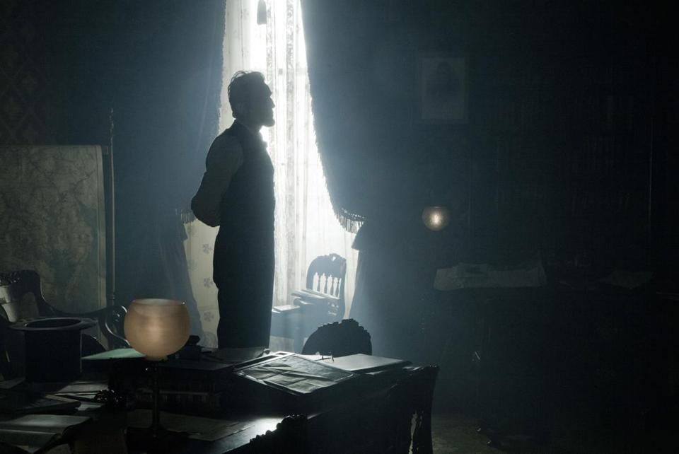 "A scene from the new film ""Lincoln."""