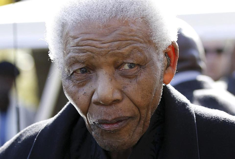 Nelson Mandela, now back at his home, had suffered from a lung infection and had gallstones removed.