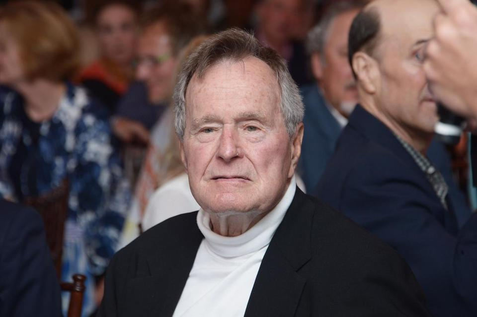 Former President George H.W. Bush in June. Bush has been in and out of the hospital in Houston since early November his spokesman said on December 26, 2012, and spent Christmas in the hospital with a rising fever.