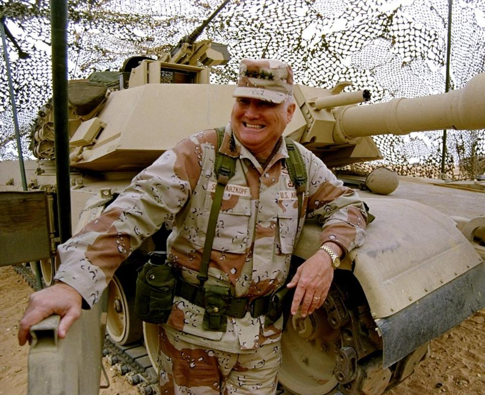 After a six-week air war, Norman Schwarzkopf led ground troops to swift victory over Iraq.