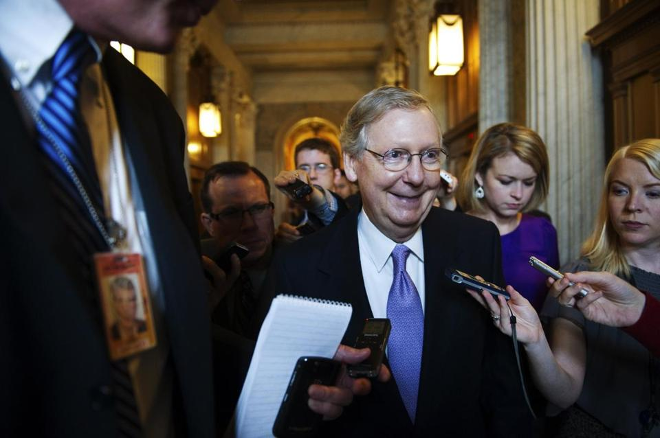 Minority leader Mitch McConnell is considered a key player in any compromise on taxes.