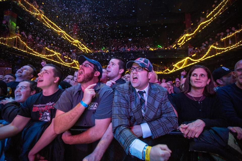 PACKED HOUSE: Fans at the Mighty Mighty Bosstones concert at Boston's House of Blues on December 29.