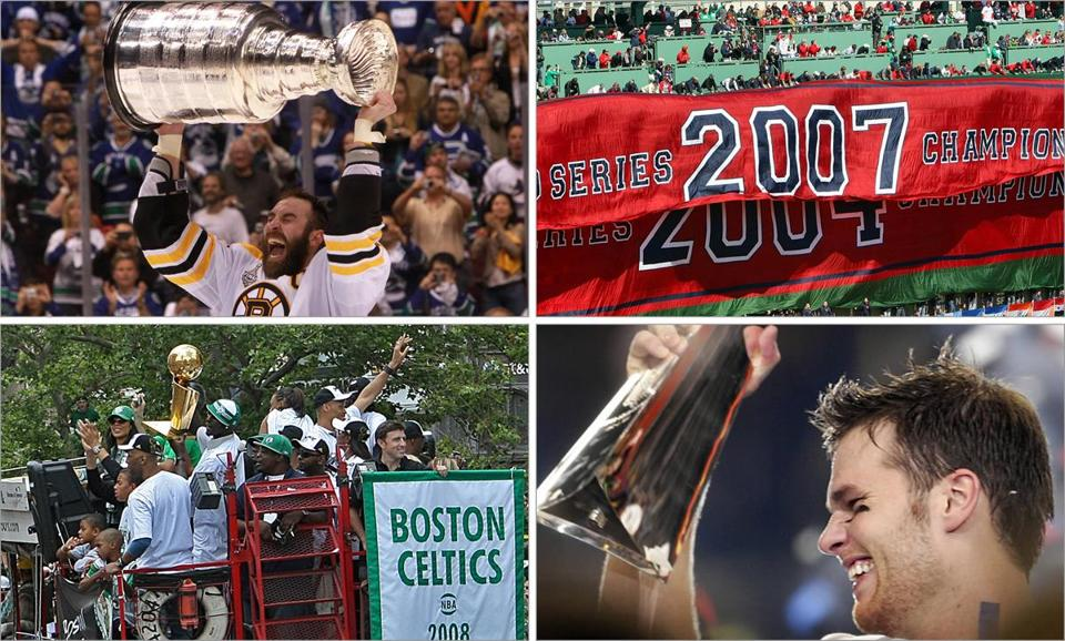 "In recent years, Boston has reveled in championships by the Bruins, Red Sox, Patriots, and Celtics — but it certainly appears that this widespread ""golden era"" is over."