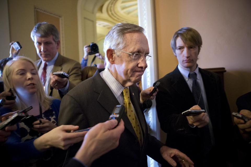 Senate majority leader Harry Reid is locked in talks with Republicans.