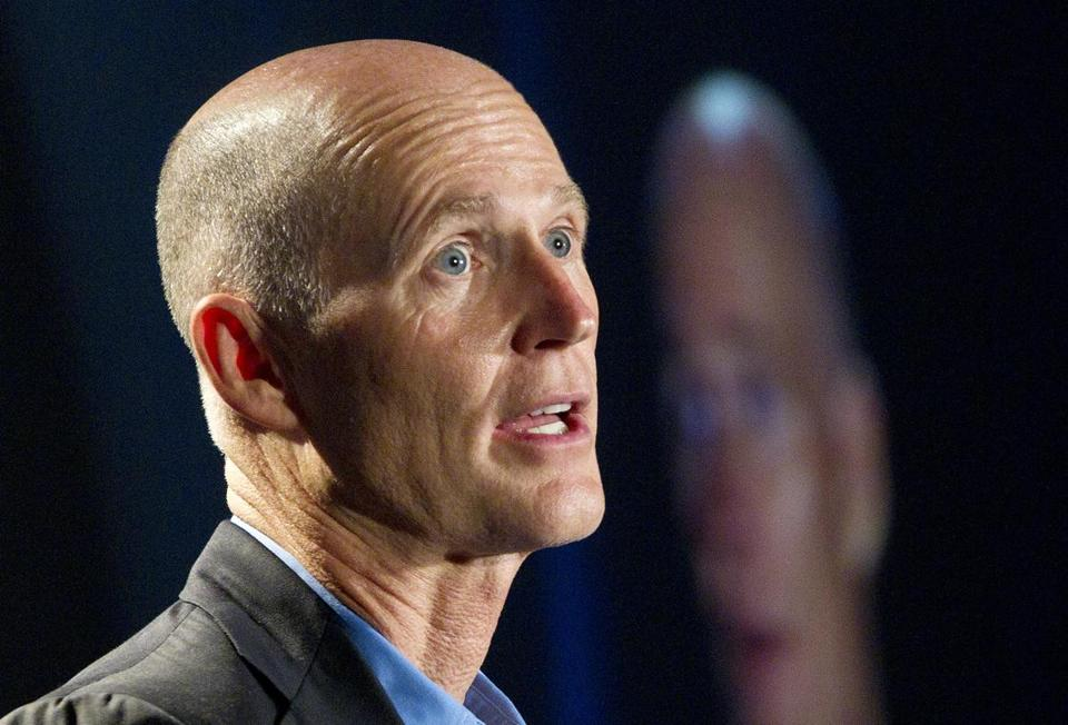 Governor Rick Scott of Florida long opposed President Obama's remake of the health insurance market.