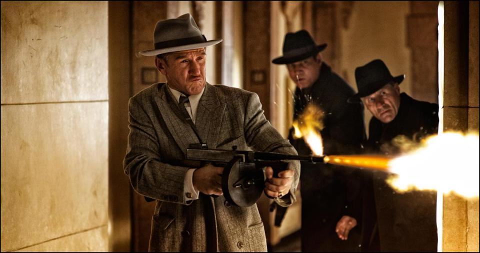 "Sean Penn is Mickey Cohen in the new film ""Gangster Squad."""