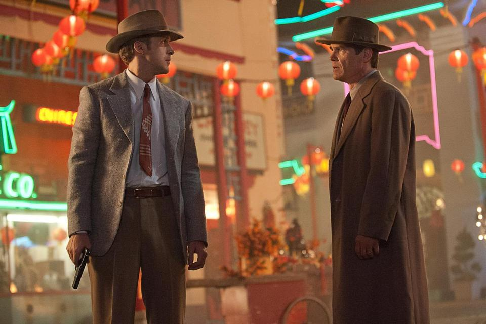 "Ryan Gosling (left) and Josh Brolin in ""Gangster Squad."""