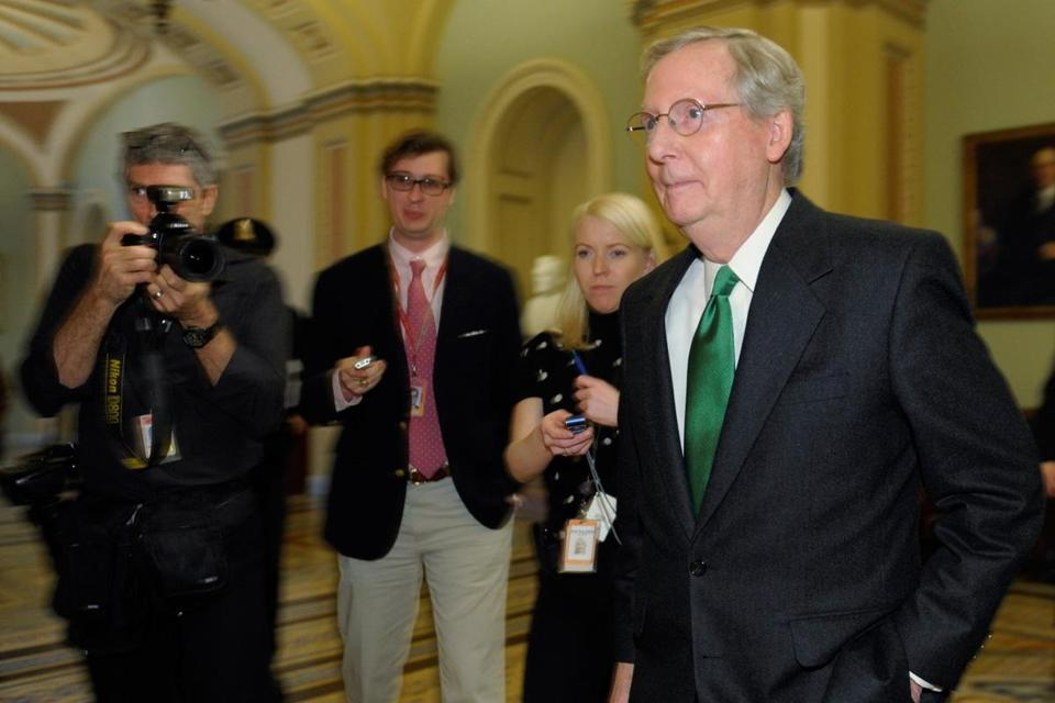 Senator Mitch McConnell, the minority leader, urged his fellow legislators to quickly pass tax relief measures.