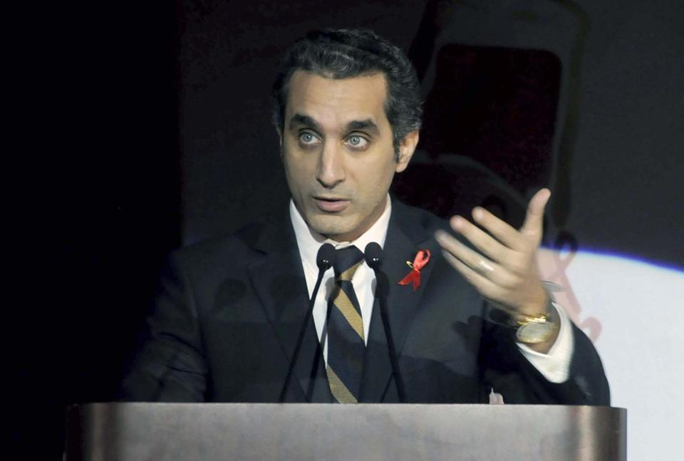 Bassem Youssef is one of Egypt's most popular TV hosts with 1.4 million fans on Facebook.