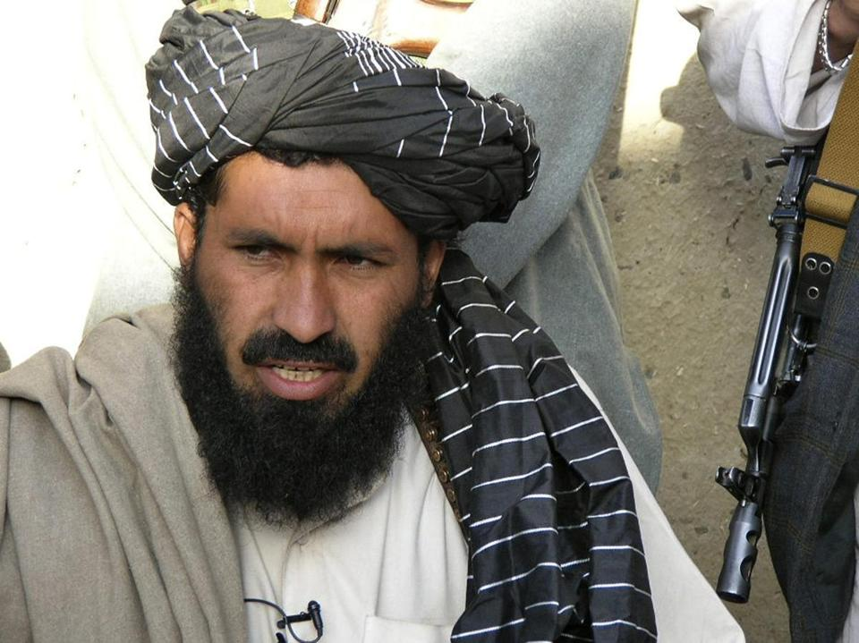 Taliban commander Maulvi Nazir Wazir, also known as Mullah Nazir, spoke during a news conference in April 2007.
