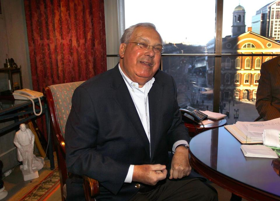 Mayor Thomas Menino is seen in his office at City Hall on Jan. 3.