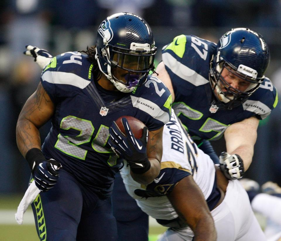 Marshawn Lynch and the Seahawks will be in Washington on Sunday.