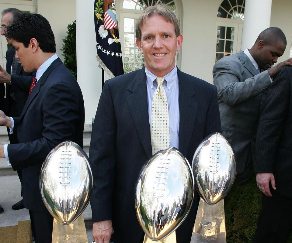 Don Brocher was with the Patriots for all seven of their Super Bowls (three wins).