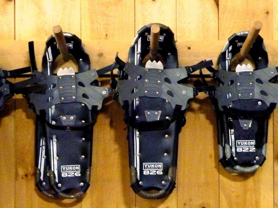 Hilltop Nordic Center rents snowshoes as well as cross country skis.
