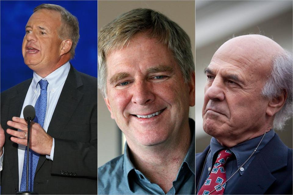 Some prominent names are on record in favor of higher tax rates for the rich, including (left to right): Tom Stemberg, the founder of Staples Inc.; travel guide Rick Steves; and businessman Frank Patitucci.