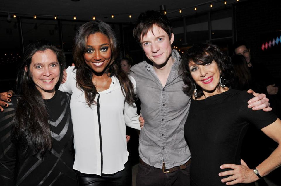"Diane Paulus (left) with ""Pippin"" cast members Patina Miller, Matthew James Thomas, and Andrea Martin."