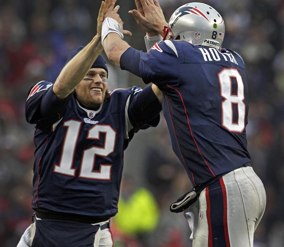 Tom Brady congratulated Brian Hoyer after his backup threw a touchdown pass in the third quarter.