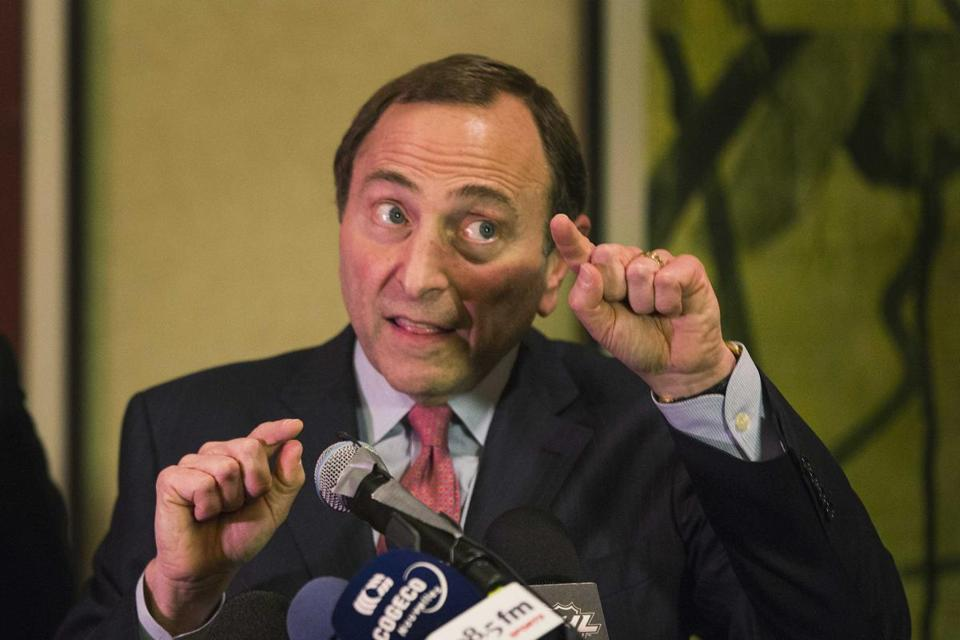 NHL commissioner Gary Bettman remains hopeful.