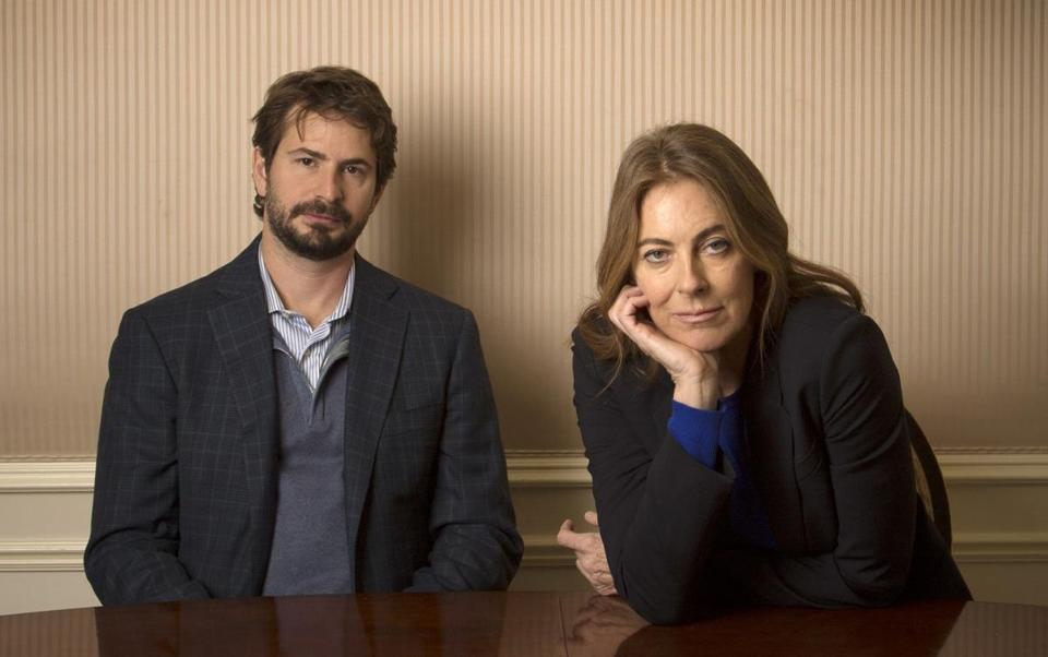 Screenwriter Mark Boal and director Kathryn Bigelow in New York.