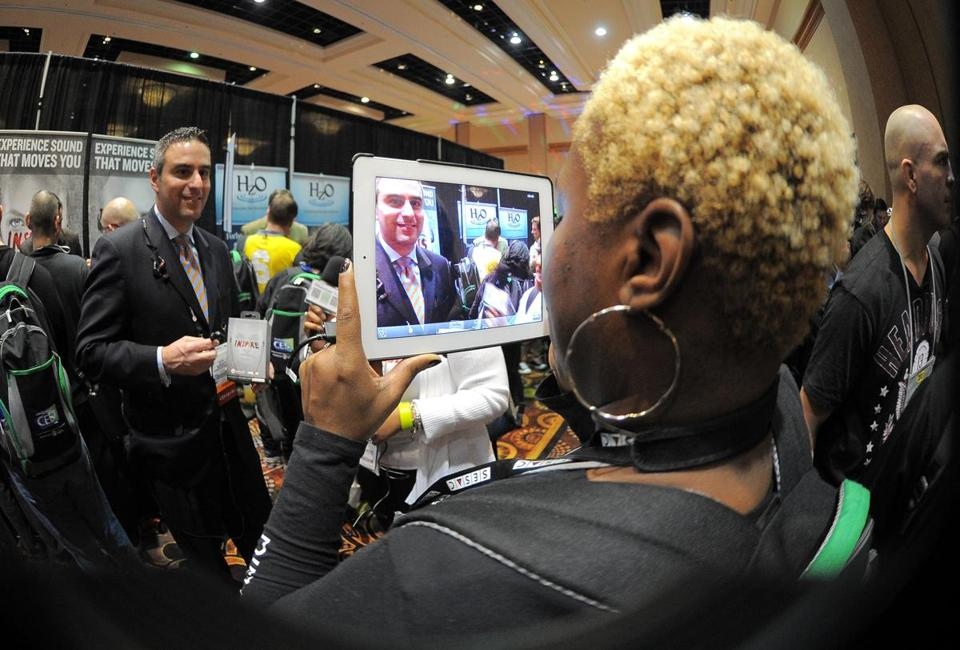 Attendees of the Consumer Electorics Show in Las Vegas atteneded the opening event,, ''CES Unveiled'' on Sunday.