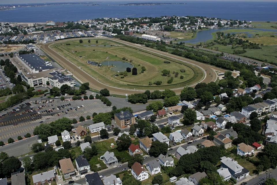 Aerial Boston, Ma., 7/16/07: SUFFOLK DOWNS in East Boston.( David L. Ryan Globe staff photo ) Library Tag 05162008 Library Tag 11222009 Globe North Library Tag 07152010 Business