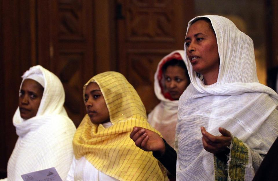 Ethiopian Christians attended a Christmas Mass Sunday led by Pope Tawadros II in Cairo.