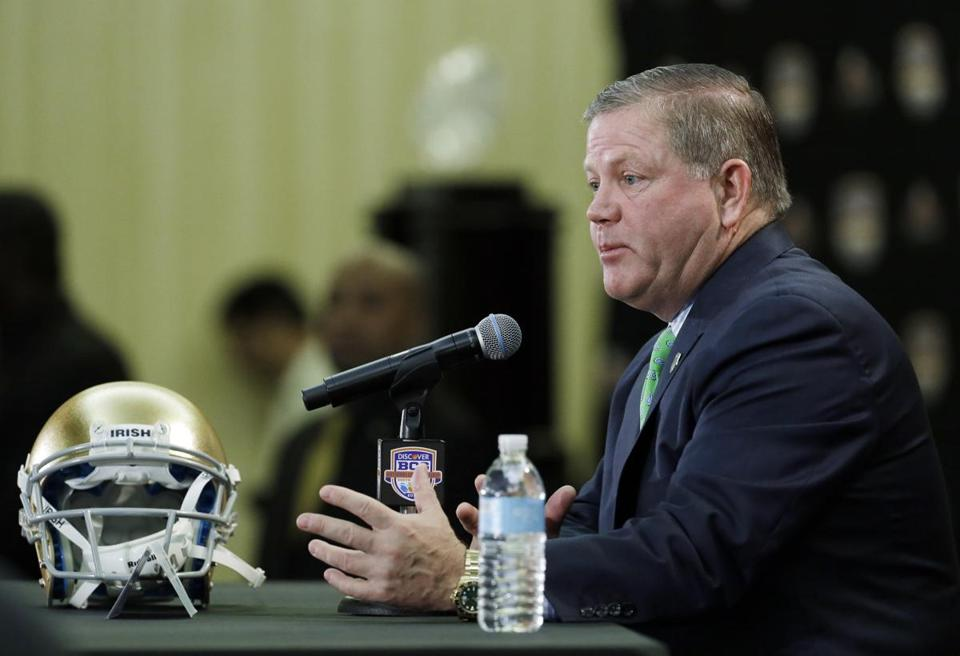 Brian Kelly has come a long way from his Everett, Chelsea roots.