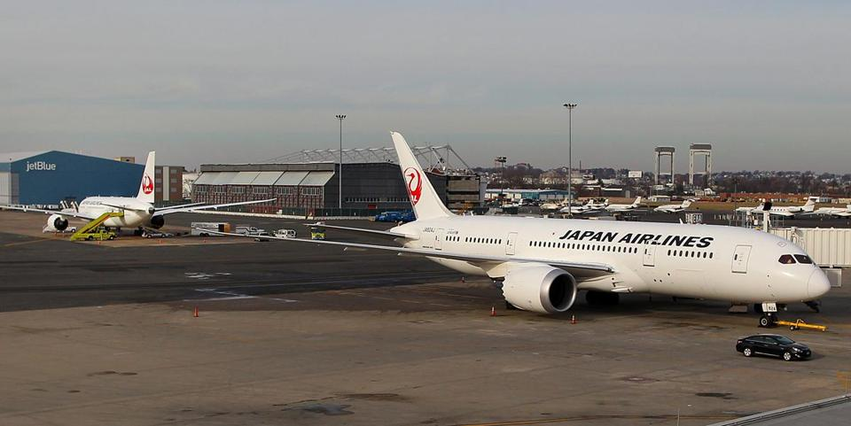 Two Japan Airlines Dreamliners experienced problems at Logan Airport earlier this week.
