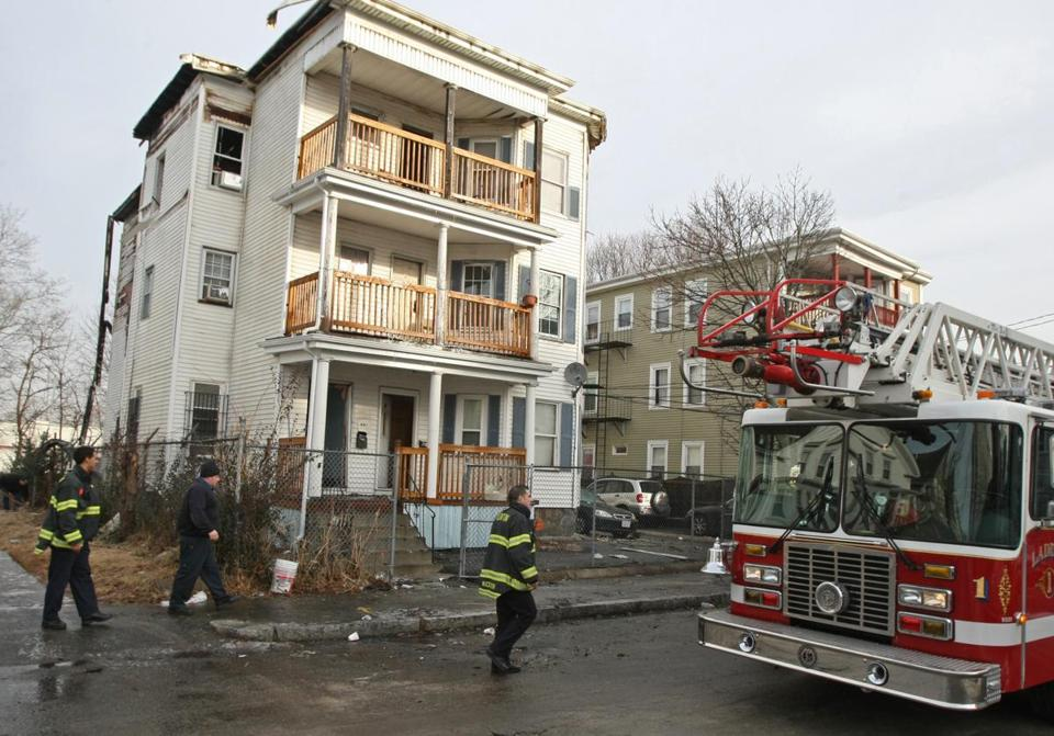 A candle on the second floor of this three-decker in Brockton is believed to have started a fire on Tuesday night. Damage to the building was estimated at more than $200,000.