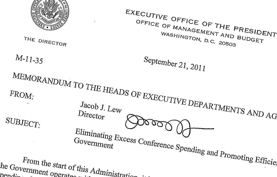 This Sept. 21, 2011, memo posted on the White House website shows then-Office of Management and Budget director Jack Lew's signature. Lew's nomination for treasury secretary means a new signature could soon be coming to the dollar bill.