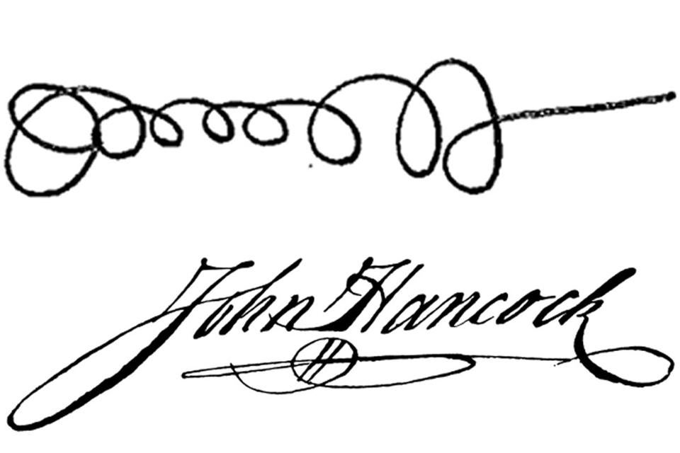 Jack Lew's signature, above, has a slightly — ahem—different style than the iconic one below.