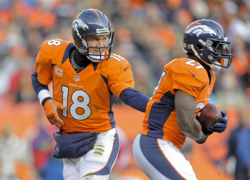 Peyton Manning and the Broncos will host the Ravens on Sunday.