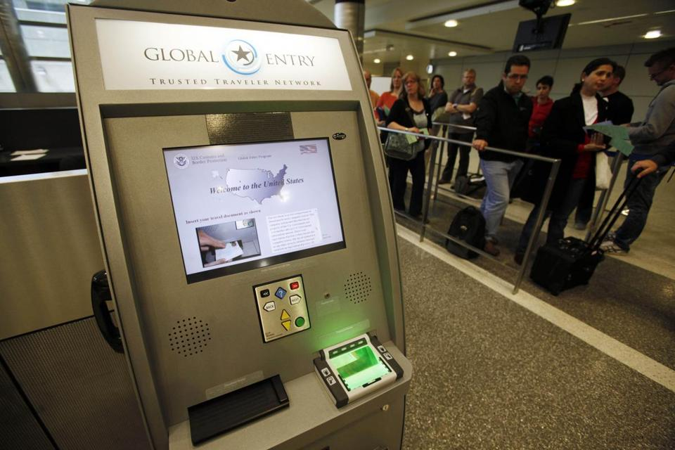 A Global Entry kiosk at Los Angeles International Airport.